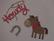 """""""Howdy"""" horse shoe die cuts   Scrapbook die cut"""