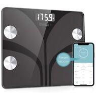 Electronic LCD Bathroom Scale Slim Digital 400lb Body Weight Glass Fat Display 0