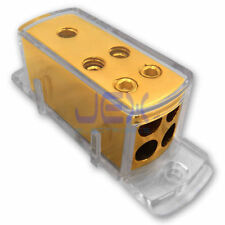 4-Way Car Audio Solar Amp Power/Ground Cable Splitter Distribution Block 4ga