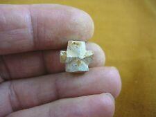 "(CR592-78) 1/2"" PETITE Fairy Stone CHRISTIAN CROSS Staurolite Crystal MATRIX"