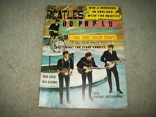 THE BEATLES COLOR PIN-UP ALBUM 1964 JOHN LENNON Paul McCartney AUTOGRAPHS PICS+