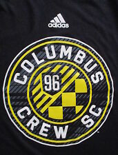 COLUMBUS CREW T SHIRT Adidas Ultimate Tee MLS Soccer 1996 Performance Black SM