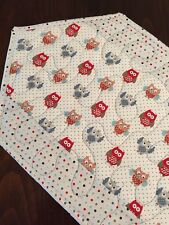 Handcrafted - Quilted Table Runner - Owls & Dots, with Many Owls in the Center