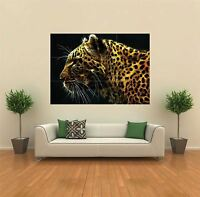 FRACTAL LIGHT LEOPARD NEW GIANT POSTER WALL ART PRINT PICTURE G134