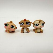 Littlest Pet Shop Tan Baby Hamster Petriplets #1478 Preowned LPS Hasbro