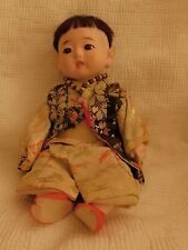 VINTAGE JAPANESE ICHIMATSU GOFUN JOINTED BABY DOLL glass eyes all composition