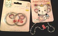 Angel Cat Sugar Kids Jewelry Earrings, Necklace, Bracelets  4 piece  New