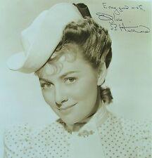 "Olivia De Havilland 8""x 10"" Crystal Clear Glossy Photo Signed in Fountain Pen"