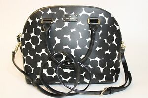 Kate Spade New York NEW Womens Carli Grove Street Splodge Dot Satchel Bag