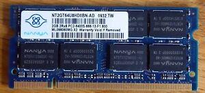 NANYA 1GB 2Rx8 PC2-6400S-666-13-F1.800 PC2-6400, DDR2 Sdram, 800 MHZ