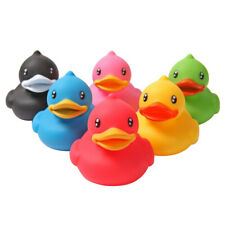6Pcs Rubber Squeeze Sound Paddling Ducks Fun Baby Bathing Floating Toy
