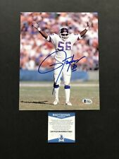 Lawrence Taylor autographed signed 8x10 photo Beckett BAS COA New York Giant NFL