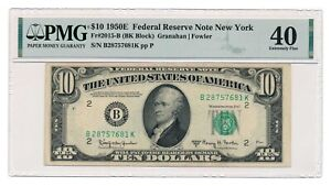 UNITED STATES banknote $10 1950 E New York Fr#2015-B PMG XF 40