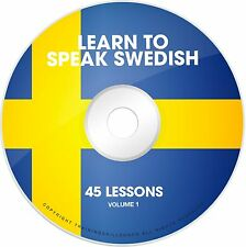 LEARN TO SPEAK BASIC SWEDISH Language Phrase Words PDF Ebooks on CD