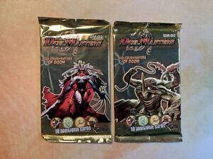 X2 Duel Masters DM-02 Evo-Crushinators of Doom Booster Packs New Sealed