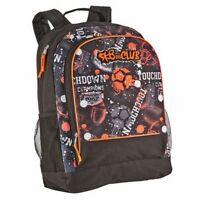 SK8er Club Orange & Black Sports Themed Backpack School Travel Back Pack
