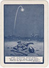 Playing Cards 1 Swap Card - Antique Wide Bairnsfather WW1 OLD BILL STAR SHELL 13