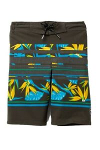 Tony Hawk Boy's M 10/12 Gray Swim Trunks Short Board Shorts Lined Reflex Stretch