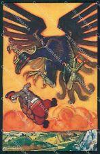 Propaganda WWI Uniform Militaty Dressed Animals signed Sancha postcard QT6604