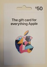APPLE Gift Card $50 (use on products,accessories,apps,music,games) Free Shipping