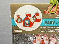 Rare 60's Vintage HAPPY WAVING SANTA Red House Chimney Christmas Ornament Kit