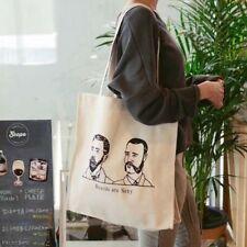NEW Handmade Portraits Canvas Eco Reusable Shoulder Bag Shopping Tote Original
