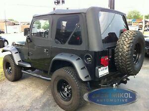 Premium for 97-06 Jeep Wrangler Replacement Soft Top + Upper Skins Diamond Black