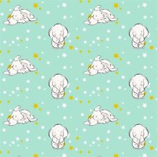 Disney Sweet Dreams Dumbo the Elephant Nursery Cotton Fabric Fat Quarter