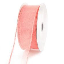 Sheer Chiffon Ribbon Wired Edge, 1-1/2-Inch, 25 Yards