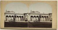 Florence Piazza Della Annunziata Italia Foto Stereo Vintage Albumina c1860