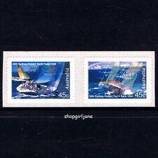 1994 Australia 50th Anniversary Sydney Hobart Yacht Race P&S peel stick pair MNH