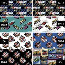 NASCAR National Association for Stock Car Auto Racing Cotton Fabric - 8 Patterns