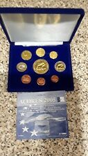 ACORES 2005  - 9 COIN EURO PROTOTYPE PATTERN PROOF SET - FREE UK P&P
