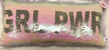Justice Girl Power Flip Sequin Faux Fur Pillow Great Gift New With Tags
