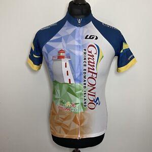 Louis Garneau Gran Fondo Canada Cycling Jersey Shirt Short Sleeve Women's Large