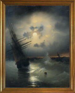 Classic Framed Ivan Aivazovsky Untitled 2 Giclee Canvas Print