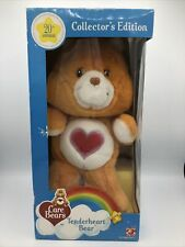 """Care Bear 20th Anniversary Collector's Approx 12-14"""" Tenderheart Bear New In Box"""