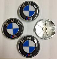 4x BMW M Sport Blue 68mm Alloy Wheel centre cap New Style Fit E90 E60 E61 E34 X3