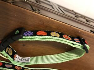 Rainbow Hearts Dog Collar- Large - NWOT