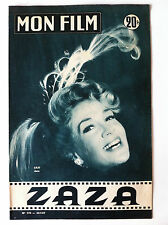 ">Mon Film n°570 de 24/07/1957; Lilo dans""ZAZA"""