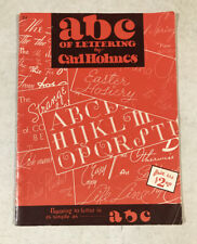 Vintage ABC Of Lettering By Carl Holmes Paperback Book