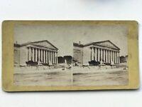 Parigi Camera Dei Membri Façade Fotografia Stereo Vintage Albumina c1865