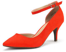 DREAM PAIRS New Fashion Women's Ideal Low Heel Dress Ankle Strap Pump Shoes