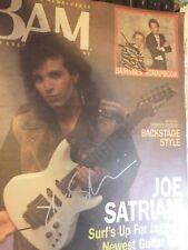 Bam Magazine April 86 Autographed By Jerry Garcia Joe Satriani Huey Lewis rare