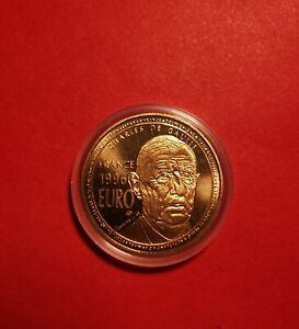 1 EURO 1998 ESSAI DE GAULLE / EUROPE MONNAIE EN BRONZE FLORENTIN