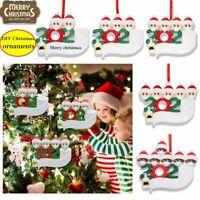 2020 DIY Xmas Christmas Tree Hanging Pendant Ornaments Family Ornament Decor New