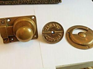Antique brass vacant/engaged toilet door lock