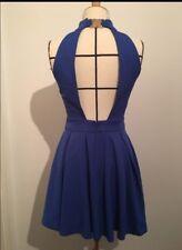 Robe été bleu électrique dos nu T36 ou S mariage bapteme communion
