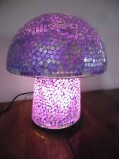 Balinese Magic Mushroom Mosaic Lamp (purple/gold tones)