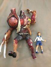 Resident Evil 2 William Birkin & Sherry Action Figures 1998 Toy Biz Used Capcom
